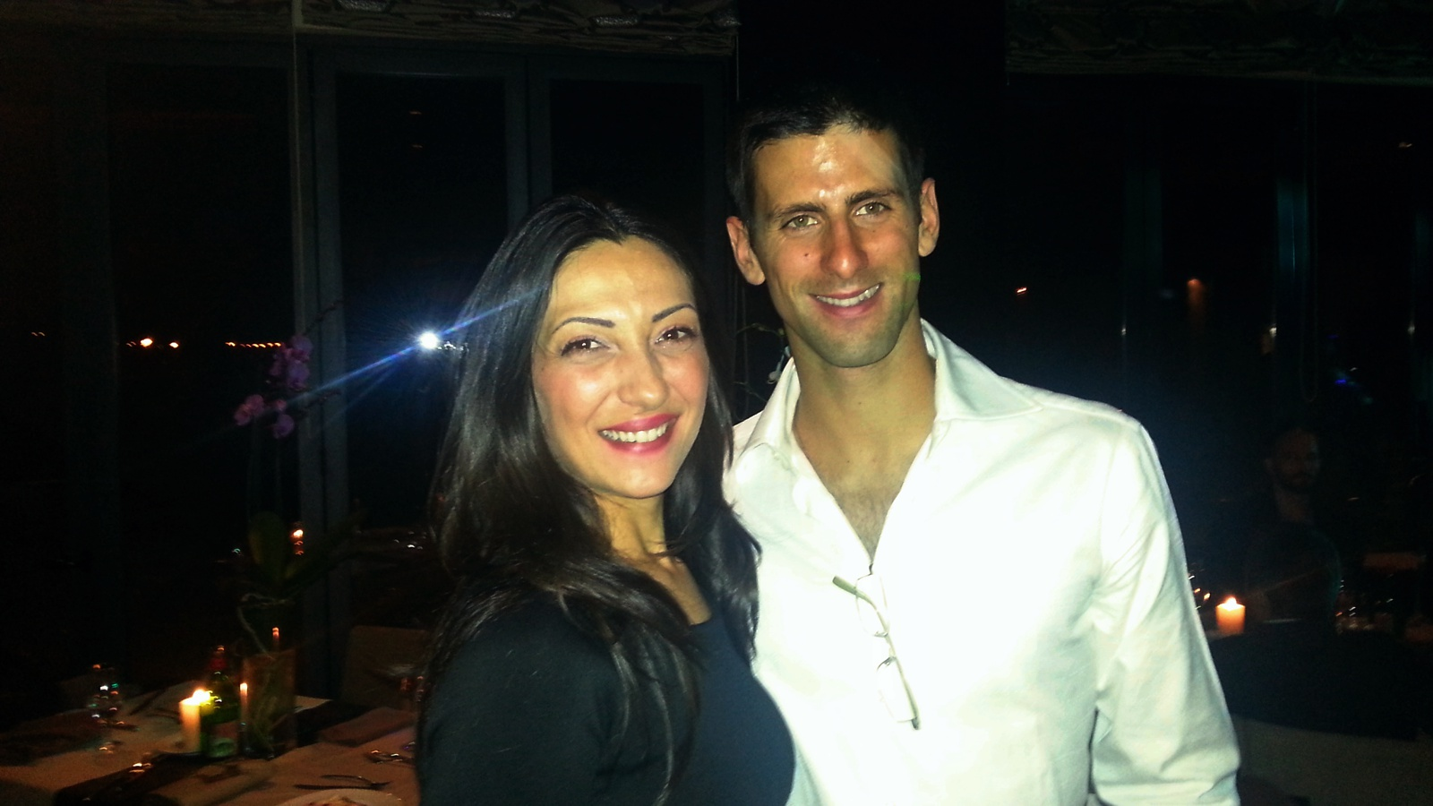 Dragana Djermanovic and Novak Djokovic, world tennis champion