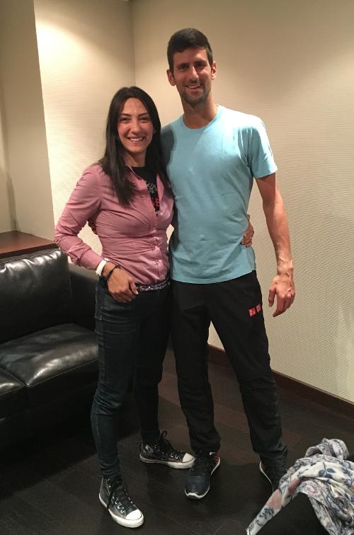 Dragana Djermanovic i Novak Đoković, Madrid 2016