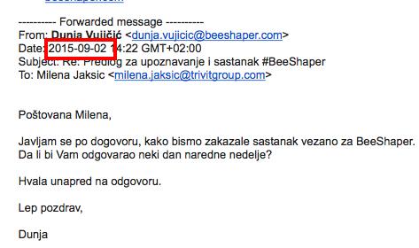 Fwd: Predlog za upoznavanje i sastanak #BeeShaper - gaga.djermanovic@gmail.com - Gmail 2015-11-06 16-58-40